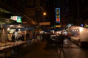 Temple Street Night Market in Yau Ma Tei